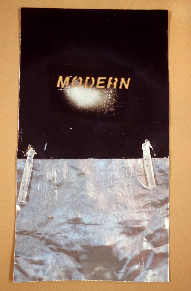 "Moder-post Modern Signs. Aluminum projection slide, 2"" x 4"", 1997."