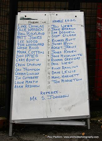 "Fareham Town 1 Hamble ASSC 1 (Abandoned after 45 mins due to floodlight failure) Wessex League      Sizes 7"" x 5"" Print £3.00 High Res Digital Image £3.00 Low Res Digital image (Internet,Facebook,etc) £1.00"