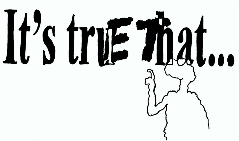 """truE That. Ink on paper, 5"""" x 7"""", 2004."""
