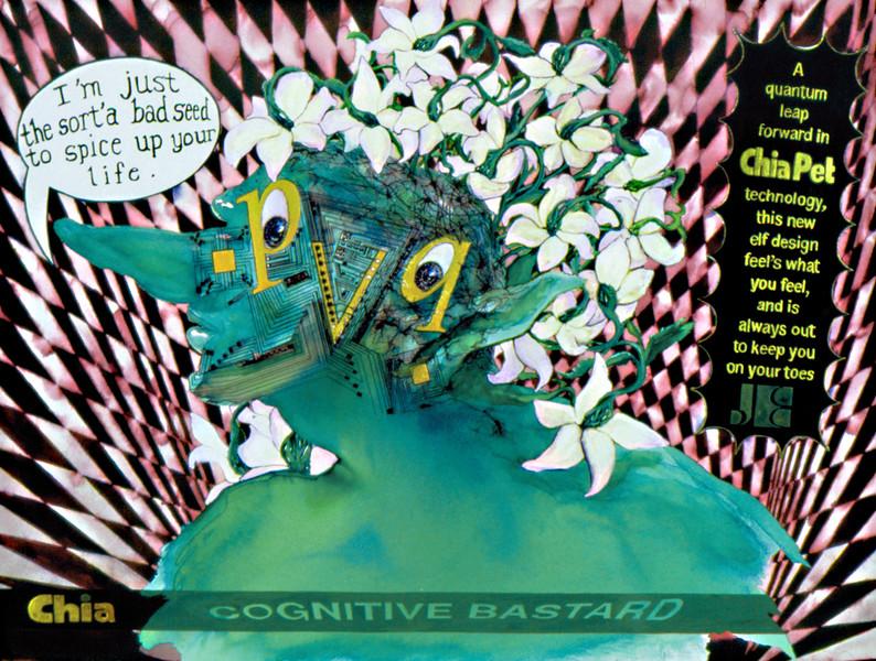 """Cognitive Bastard. Ink on paper 16"""" x 20"""", 2006."""