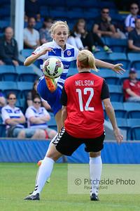 "Reading Ladies v Durham Ladies - Womens Super League 2 - Rushmoor Stadium, Farnborough, Hampshire - July 11th 2015 (Photo by Paul Paxford/Pitchside Photo)  OptionsLow Res Digital File (Facebook,etc) £2.00 GBPFull Res Digital File £5.00 GBP9"" x 6"" Print £5.00 GBP"