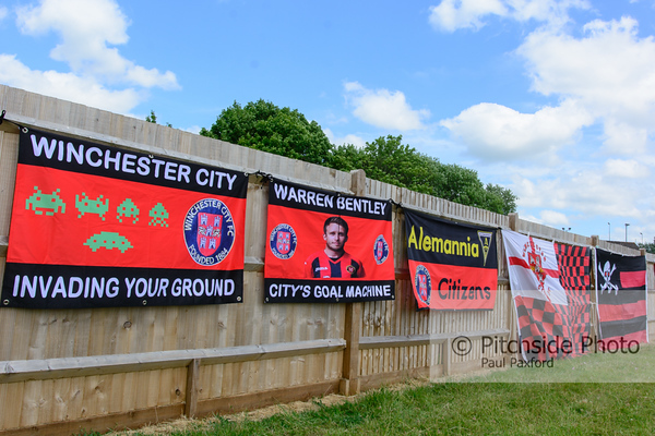 "Winchester City v Gosport Borough - Pre Season Friendly - Denplan City Ground, Winchester, Hampshire - July 4th 2015 (Photo by Paul Paxford/Pitchside Photo)  OptionsLow Res Digital File (Facebook,etc) £2.00 GBPFull Res Digital File £5.00 GBP9"" x 6"" Print £5.00 GBP"