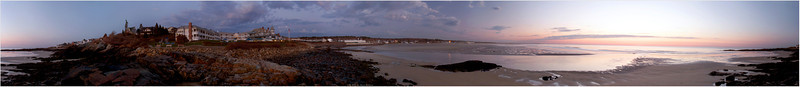"""Marginal Walk"" A 360-degree view of Ogunquit's Marginal Way at sunrise. For a closer view, double click on image above, then choose ""O"" for viewing image in it's ""original"" file size - 12"" high x 108"" long! Use the scroll bars at the bottom and right side of your browser window to stroll along the path and don't forget to dip your feet in the surf! Still a little chilly this early in the season. For more information, visit:  http://www.marginalwayfund.org/history.php"