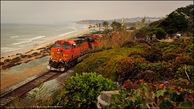 Scenes from around Torrey Pines, CA. Train's Here!