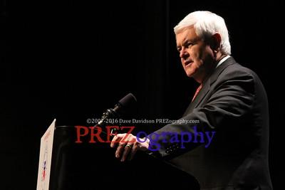 Newt Gingrich at Reagan Dinner