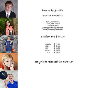 Senior Price List