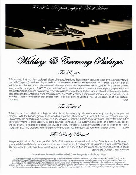 Wedding Photography Price List