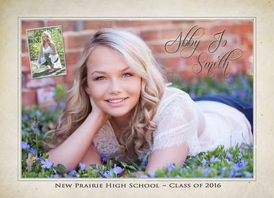 Abby front of invite