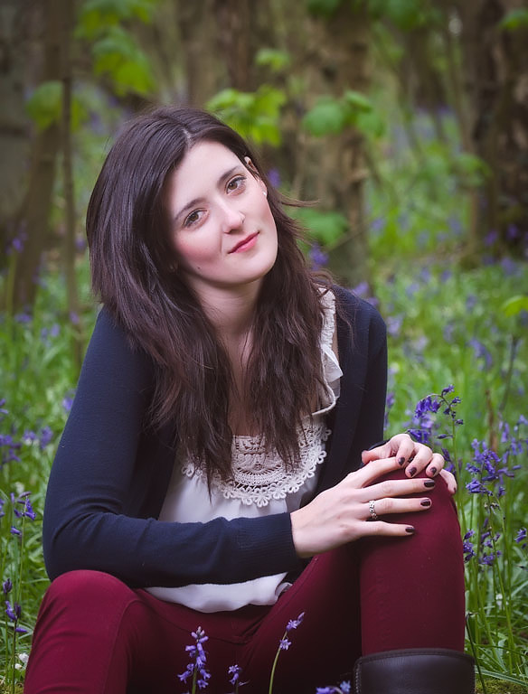 Springtime is a great time to take outdoor portraits, the bluebells only last a short time so these sessions need to be booked well in advance