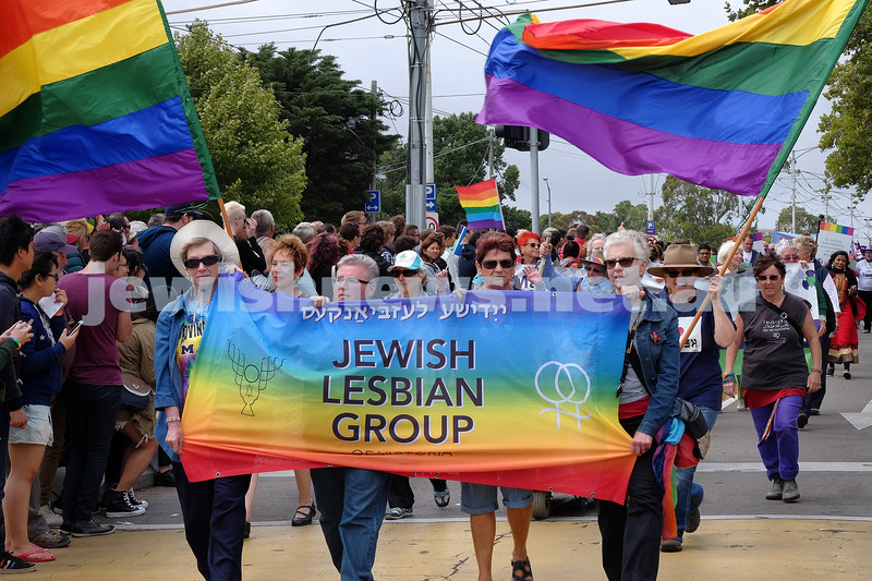 1-2-15, Groups march in the 20th annual PRIDE march in St Kilda.