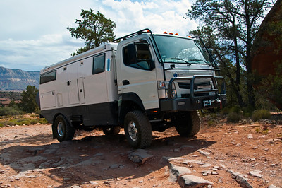 EarthCruiser leaving Toroweap, North Rim Grand Canyon AZ
