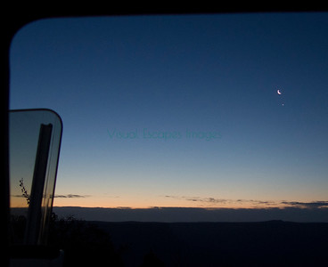 Sunrise with the moon and Venus from Twin Point