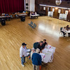 Poll workers inside Leominster City Hall during the primary elections on Thursday. SENTINEL & ENTERPRISE / Ashley Green