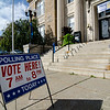 Leominster City Hall is open for voting 7 a.m. to 8 p.m. for the primary elections on Thursday. SENTINEL & ENTERPRISE / Ashley Green