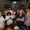 Rick Marchand supporters watch as early vote counts come in at the Gazbar in Leominster during the primary elections on Thursday. SENTINEL & ENTERPRISE / Ashley Green