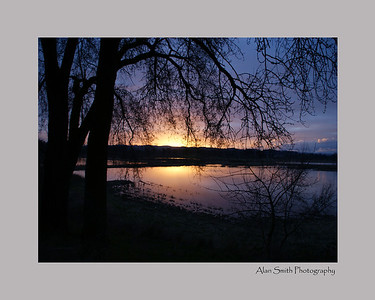 Tualatin Oregon Wild Life Refuge - Sunset