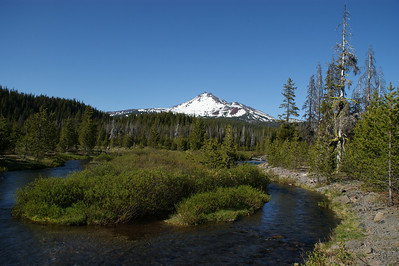South Sister and mountain stream