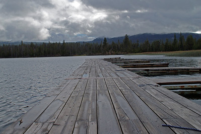 Lava Lake Boat Dock Early October before the first snow
