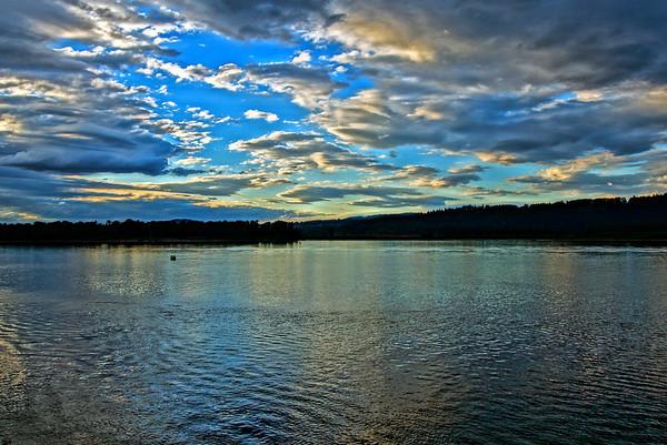 Evening Sky, Columbia River