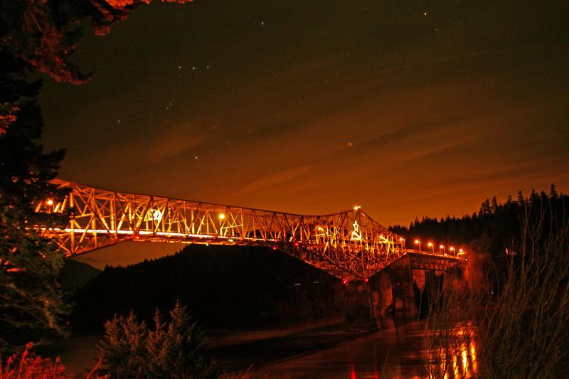 Bridge of the Gods - Cascade Locks - Late evening shot.  Taken from behind the Best Western...very nice hotel.