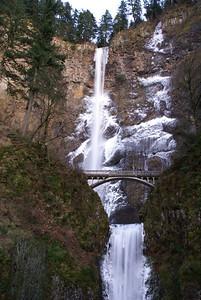 Multnomah Falls in Winter Ice