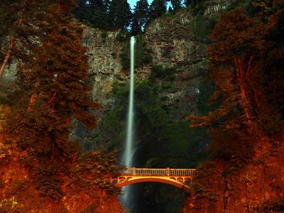 Multnomah Falls - 10 pm (3)