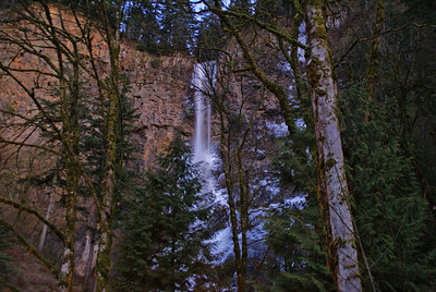Icy Falls in Columbia River Gorge