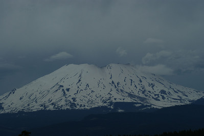 Mt St Helen's from South East side of the Mt.   Off of Curly Creek Road between Carson Washington and FS Road 90.