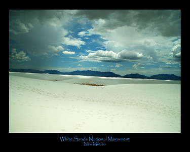 White-Sands - 20x16 poster