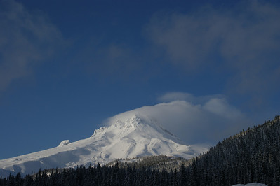 Mt Hood - taken from White River.  East side of Mountain
