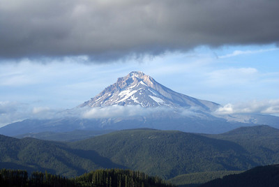 Mt Hood Oregon Taken from High Rock in the Clackamas River Drainage