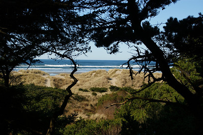 Yaquina Bay Lighthouse trail to the beach, Newport OR