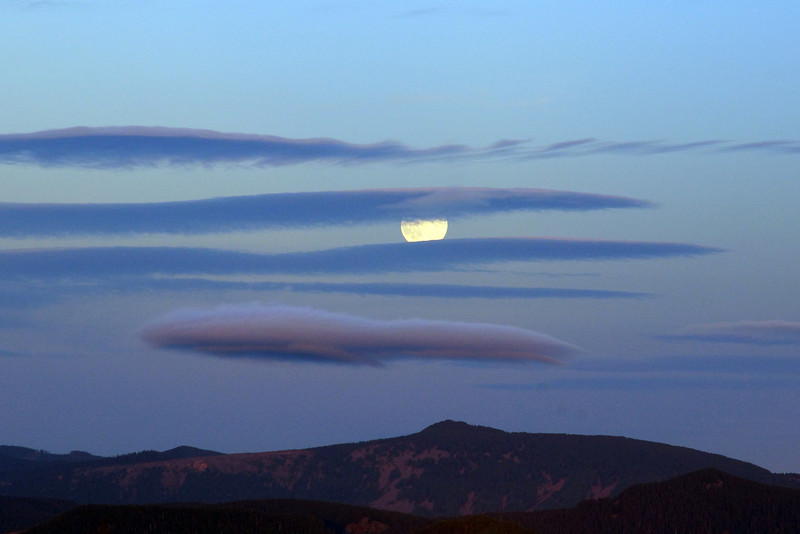 Moon rise taken from Larch Mt