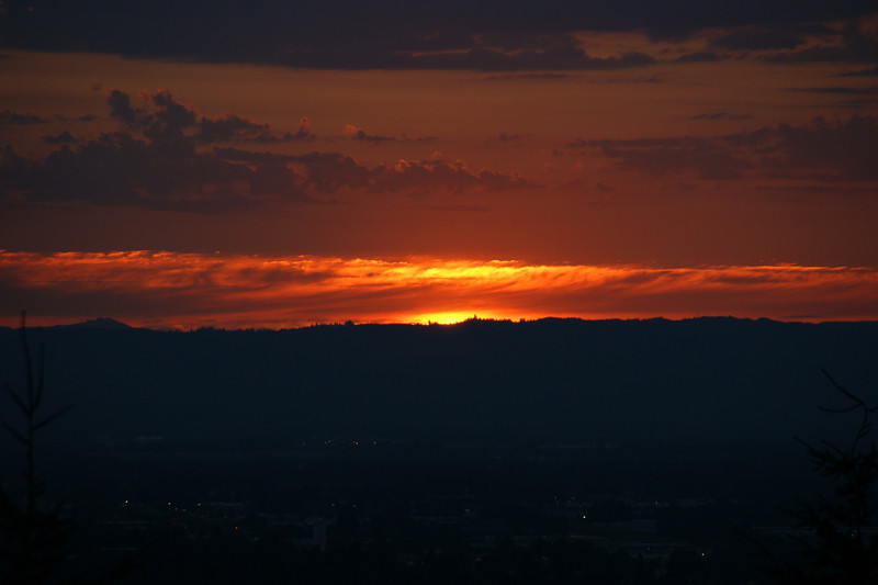 Sunset from Rocky Butte, Portland Oregon