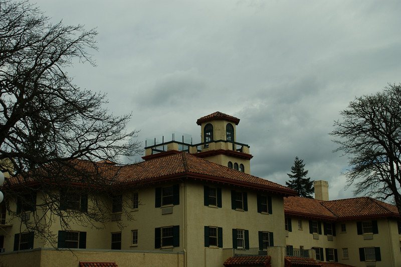 Columbia River Gorge Hotel...yes there is a waterfall on the back side that is very cool