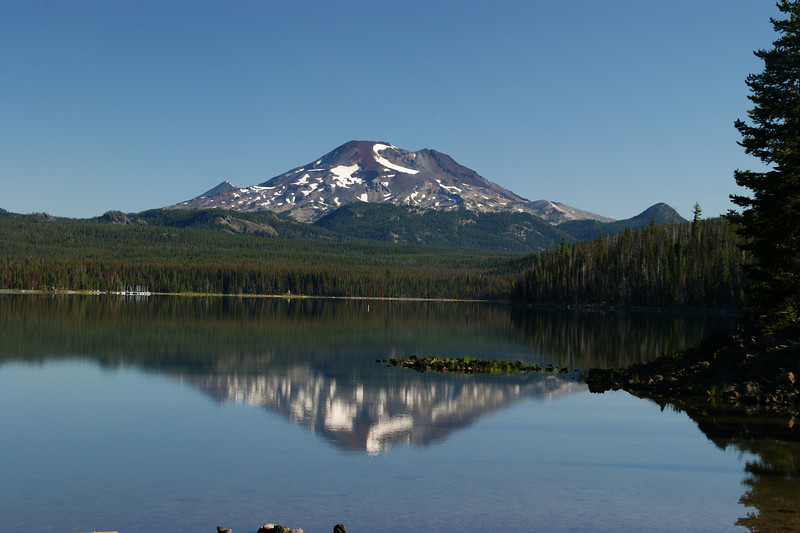 Mt Bachelor with Elk Lake.   Central Oregon Cascades