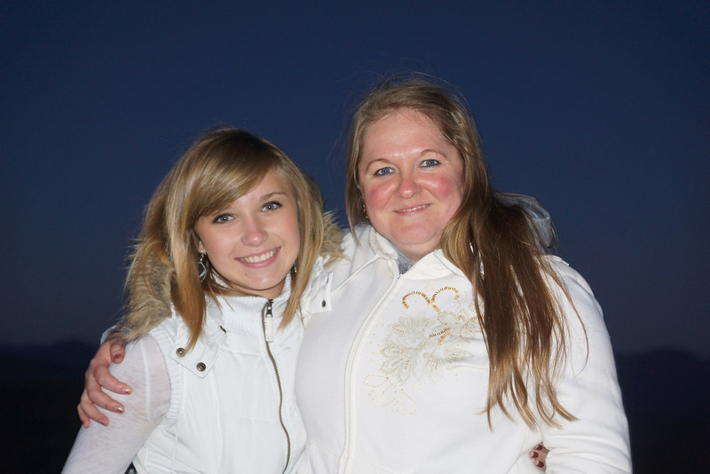 Daughter & Mom....New Friends at Larch Mt....9/2/12
