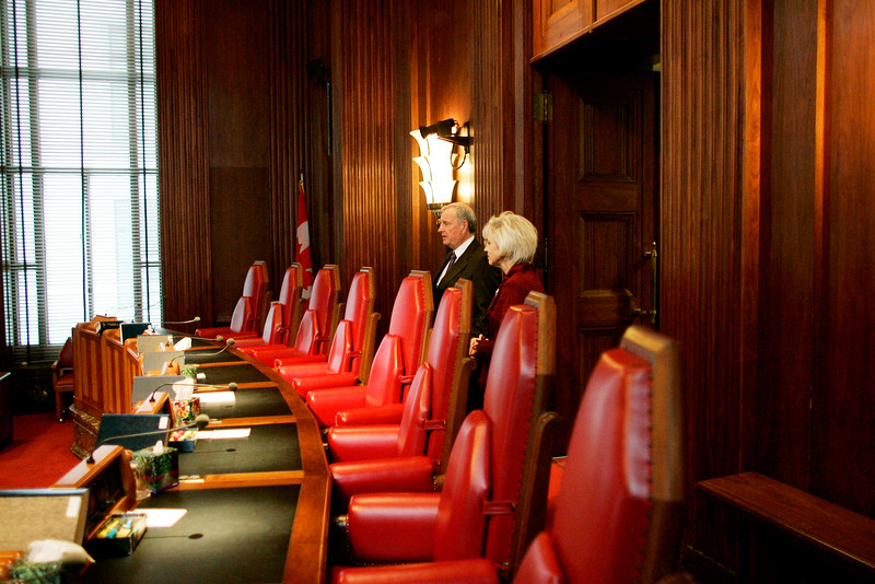 Prime Minister Paul Martin tours the Supreme Court of Canada with Chief Justice Beverley McLachlin.