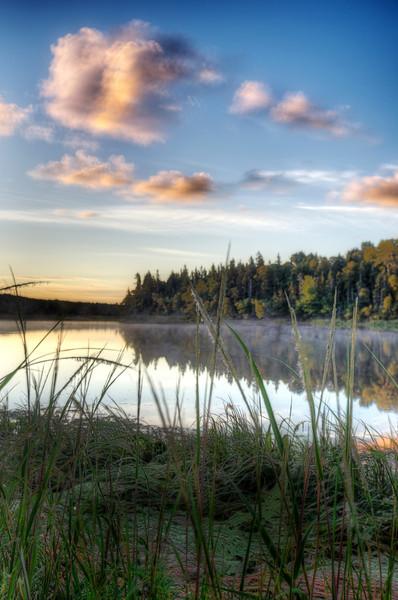 Good morning! Sunrise over Stanley River, Prince Edward Island. 24 August, 2013.