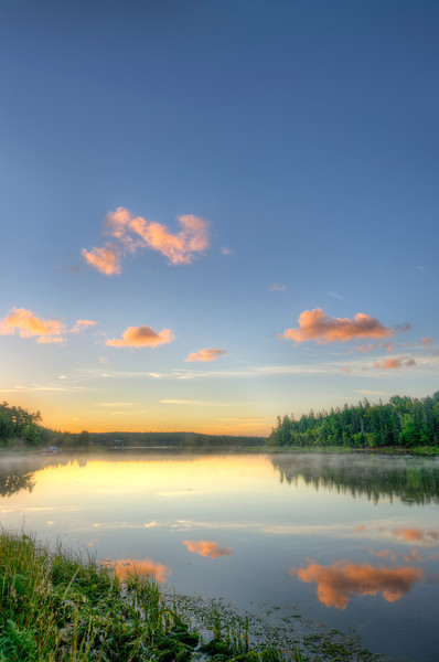 Good morning! Sunrise over Stanley River, Prince Edward Island. 24 August, 2013.