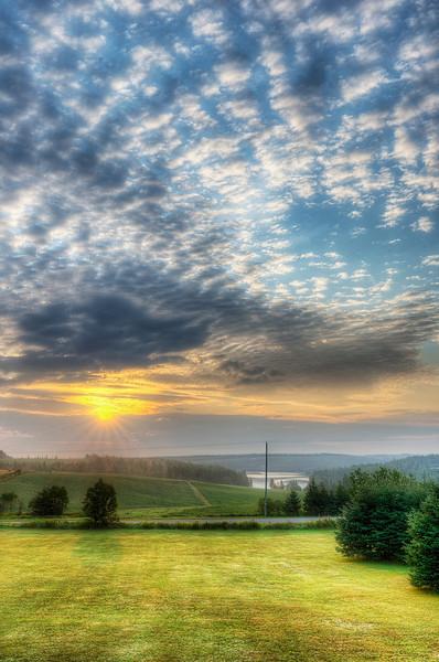 Good morning.... Sunrise 20 August, 2013 near Kensington, Prince Edward Island. — in Kensington, Prince Edward Island.