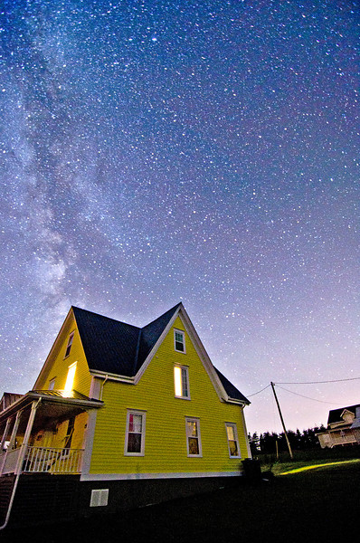 Dad's house under the Milky Way. New London, PEI. 19 July, 2012.