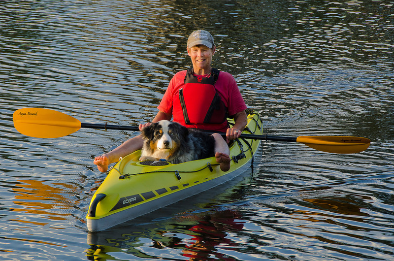 Trudy McLeod and Dash Riprock out for a beautiful evening paddle near New London PEI, July 18, 2012.