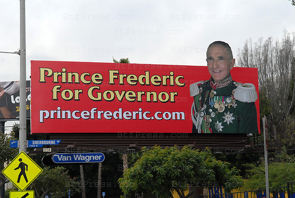 Prince Frederic Von Anhalt begin his electoral campaign for the post of Governor of California in 2010.