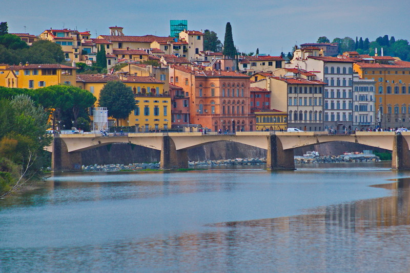 Ponte alle Grazie, Florence on the Arno River