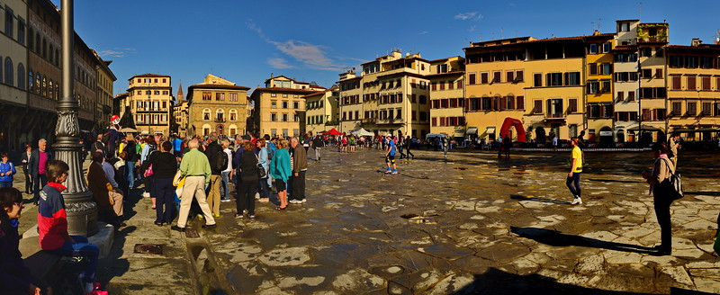 Panorama of the Piazza Santa Croce (Holy Cross)