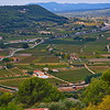 View of Provence Countrydie from Castelet, hilltop village