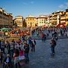 MA Standing in the Piazza Santa Croce