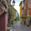 Narrow Street in Castelet, Provence area of France