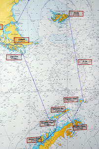 Ports of call and the Antarctic route